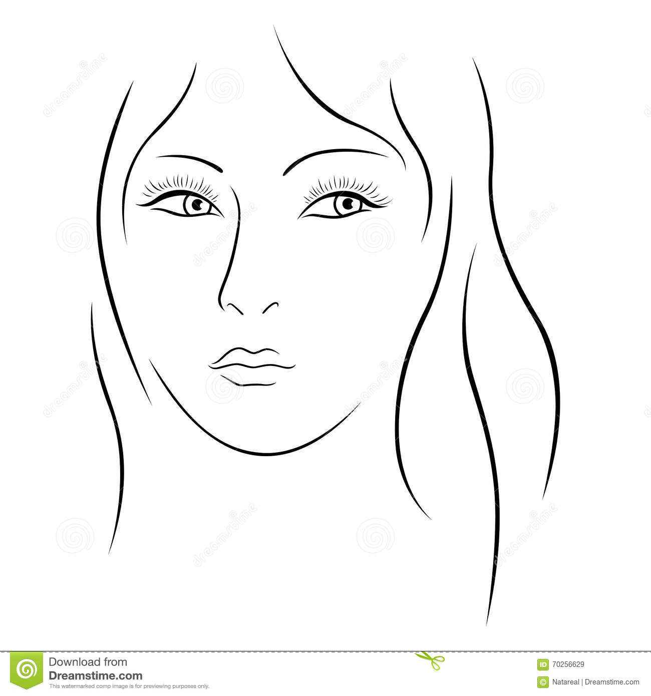Beautiful Simple Line Art : Beautiful sexy woman simple art line vector cartoon