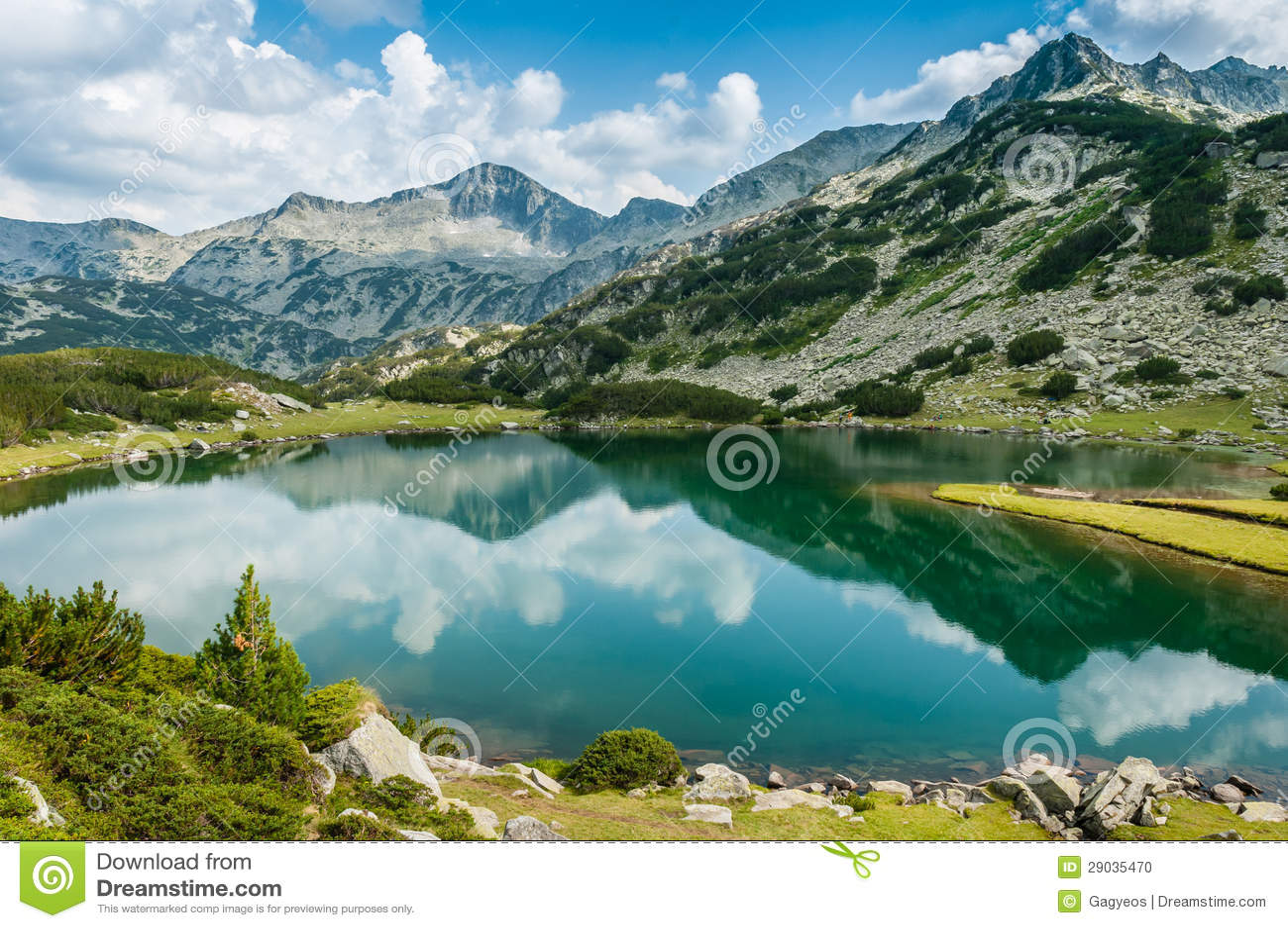 Beautiful lake and mountain view in Bulgaria