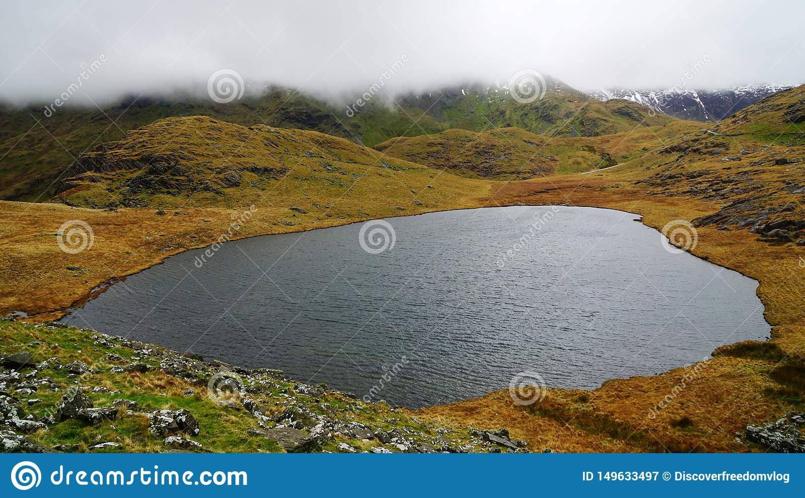 Beautiful Lake in Snowdonia National Park, Wales, United Kingdom