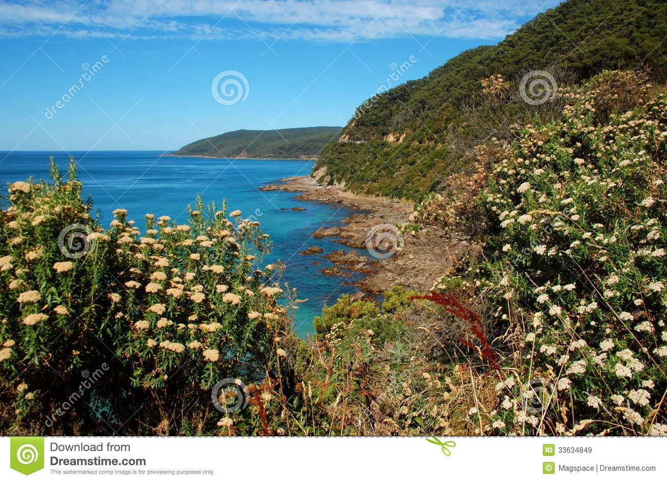 Beautiful Landscape On Great Ocean Road, Australia. Royalty Free Stock ...