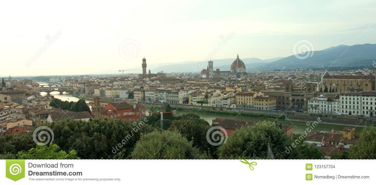 Beautiful landscape of Renaissance Florence, Toscana, Italy