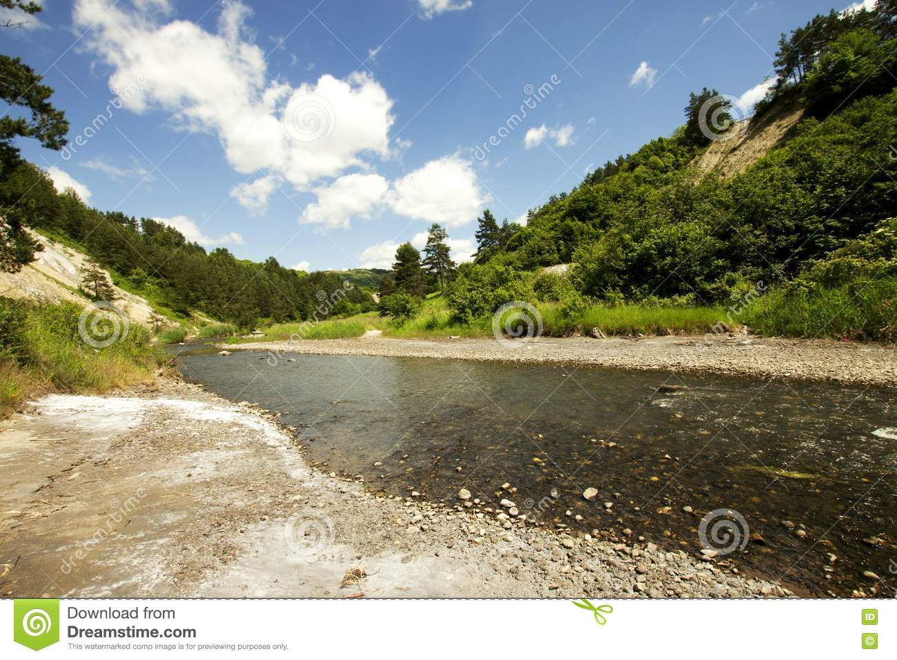 Beautiful Landscape With River Picture. Image  14774818 0c54abe110d
