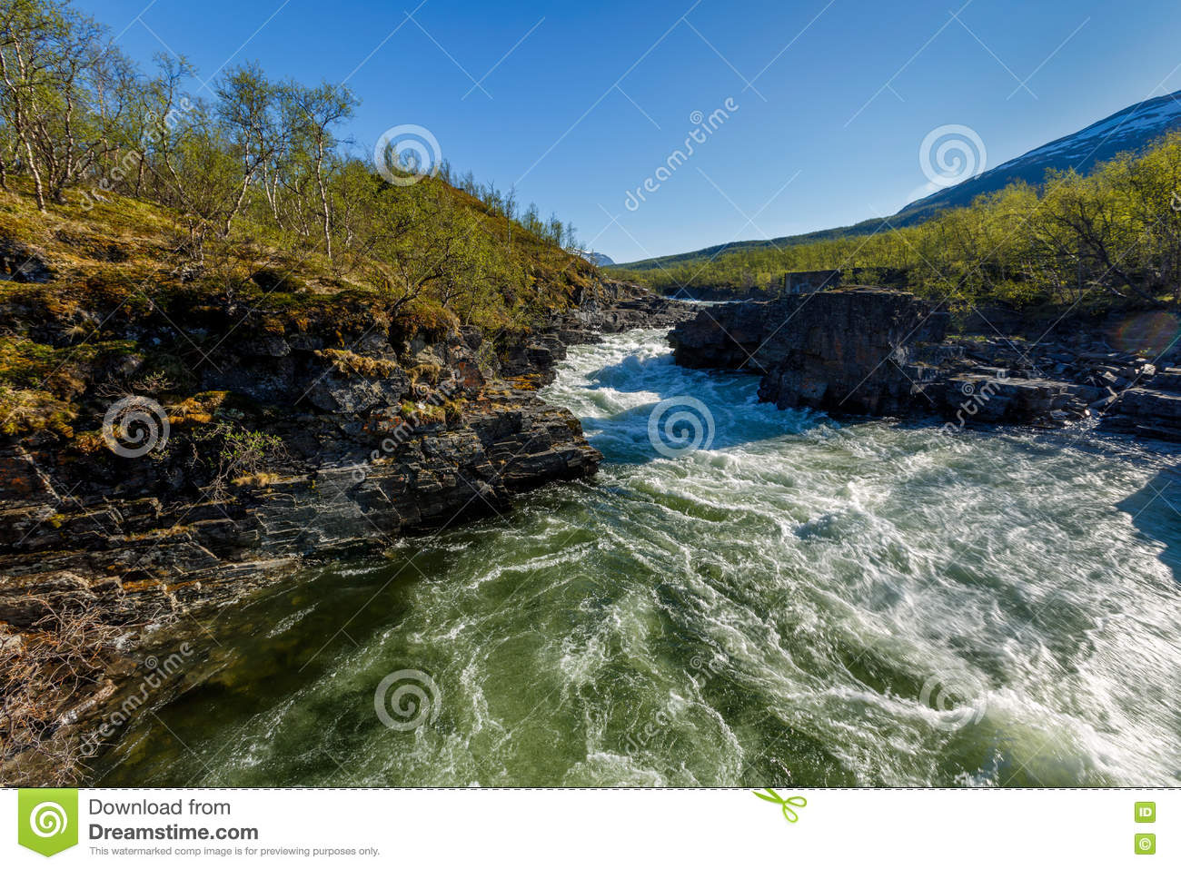 Beautiful landscape with river and canyon