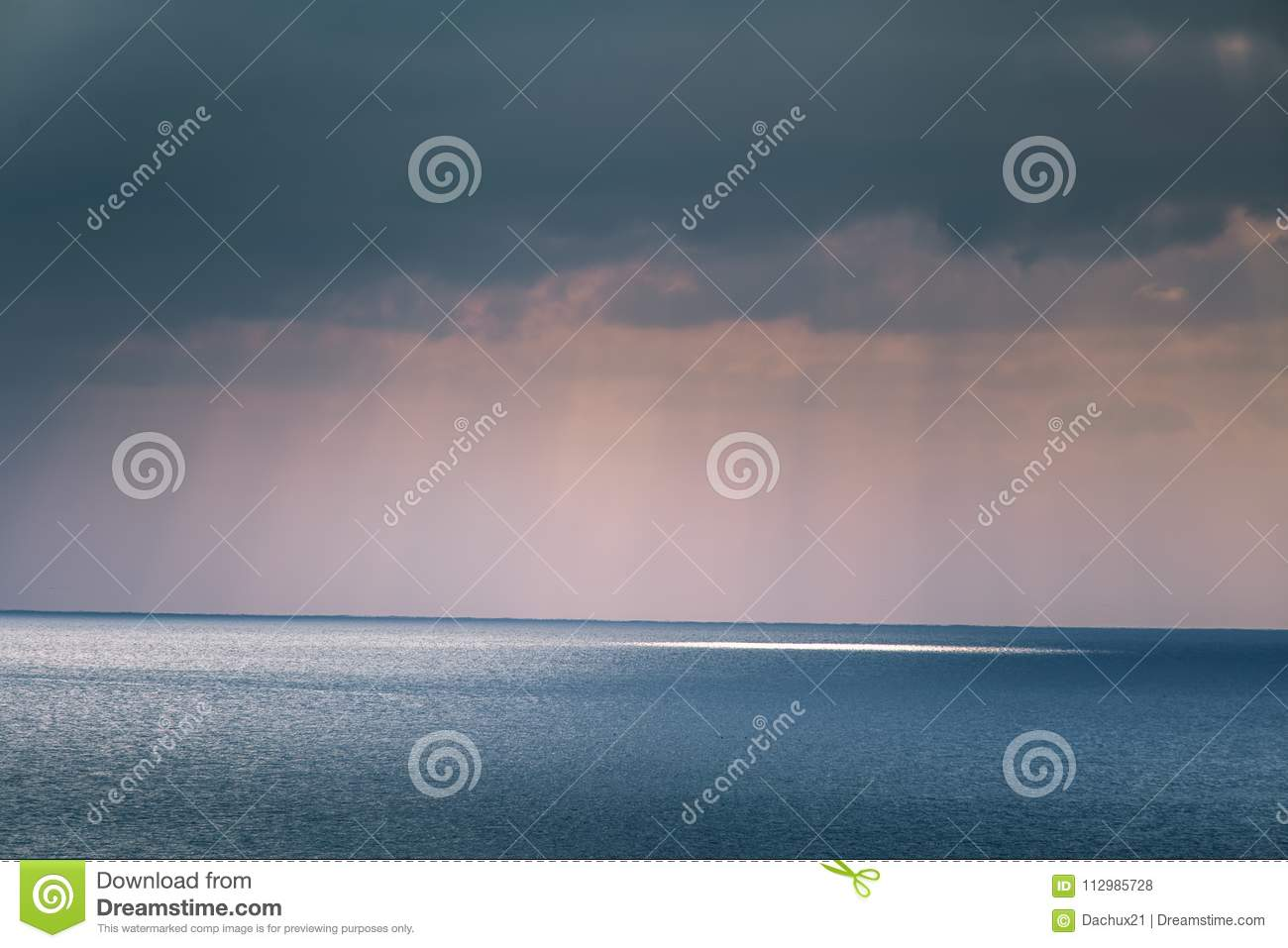 A beautiful landscape of a sea in winter evening. Baltic sea at the sunset.