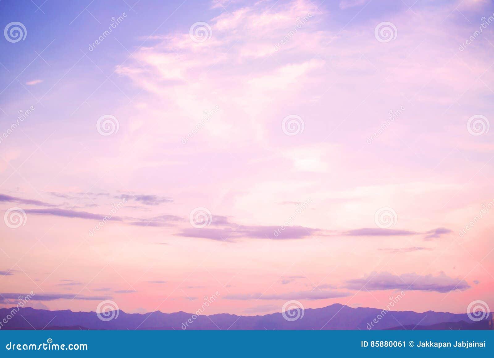 Beautiful Landscape Serenity And Rose Quartz Color Filter Stock