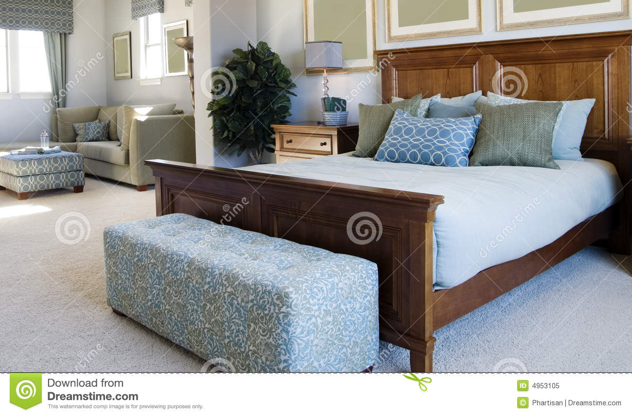 Beautiful Large Bedroom With Small Den Area Royalty Free