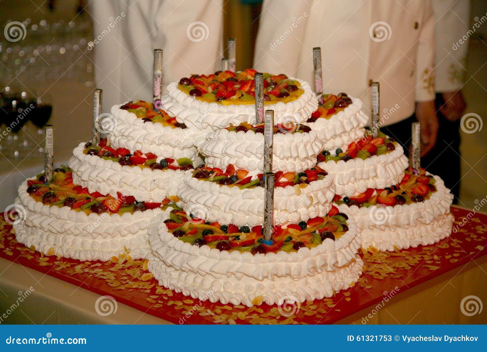 Beautiful Large Multi Tiered Wedding Cake Of Complex Shape