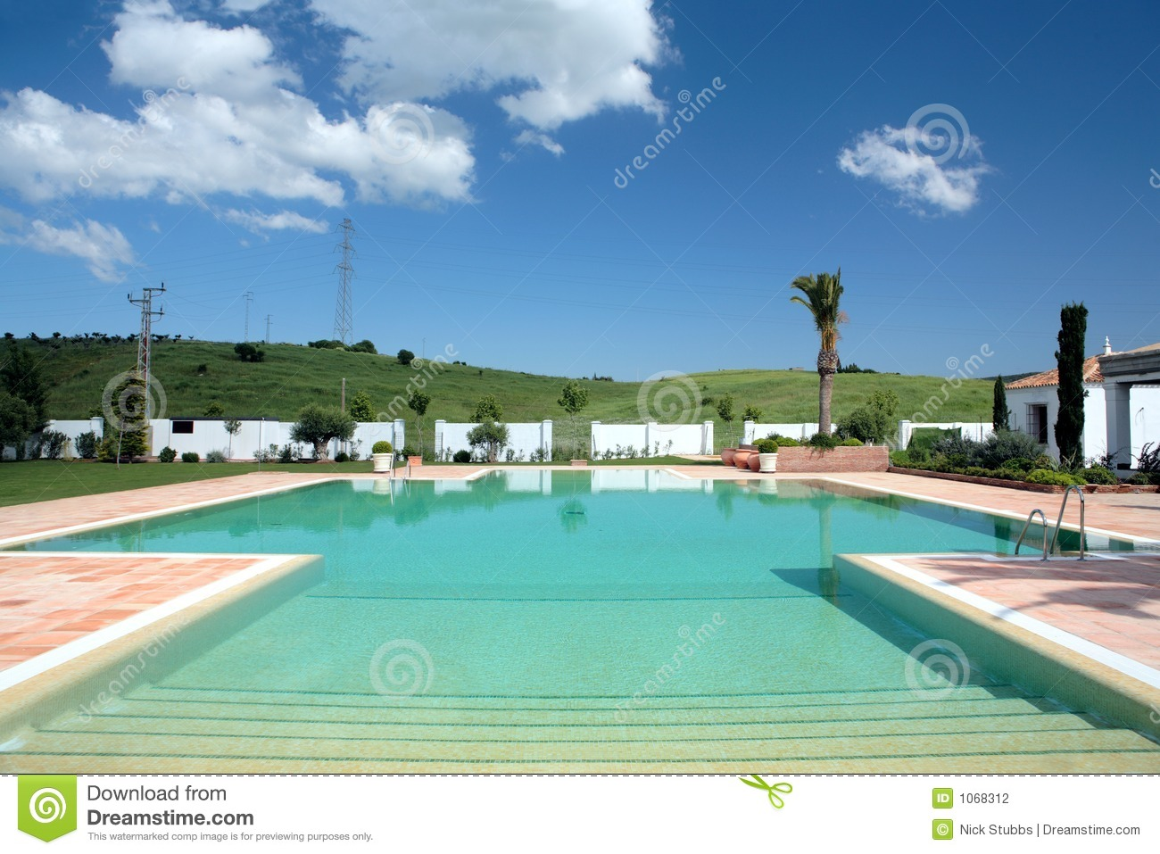 Beautiful Large Swimming Pool Of Hotel In Europe Stock Photography Image 1068312