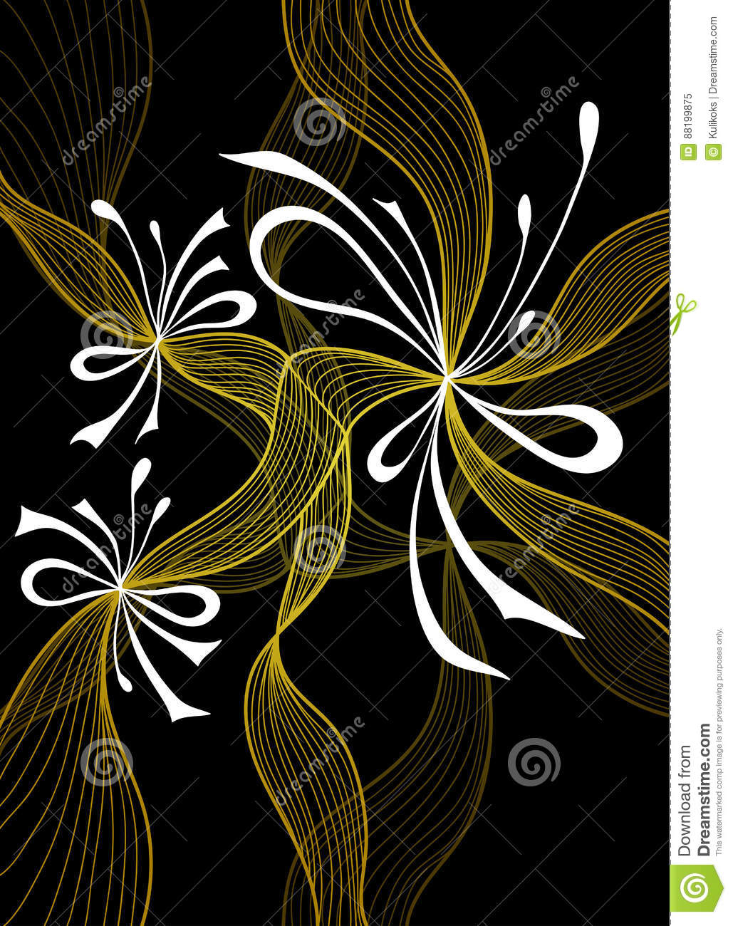 Beautiful Light Abstract Background With Lace Flowers Bows Gold