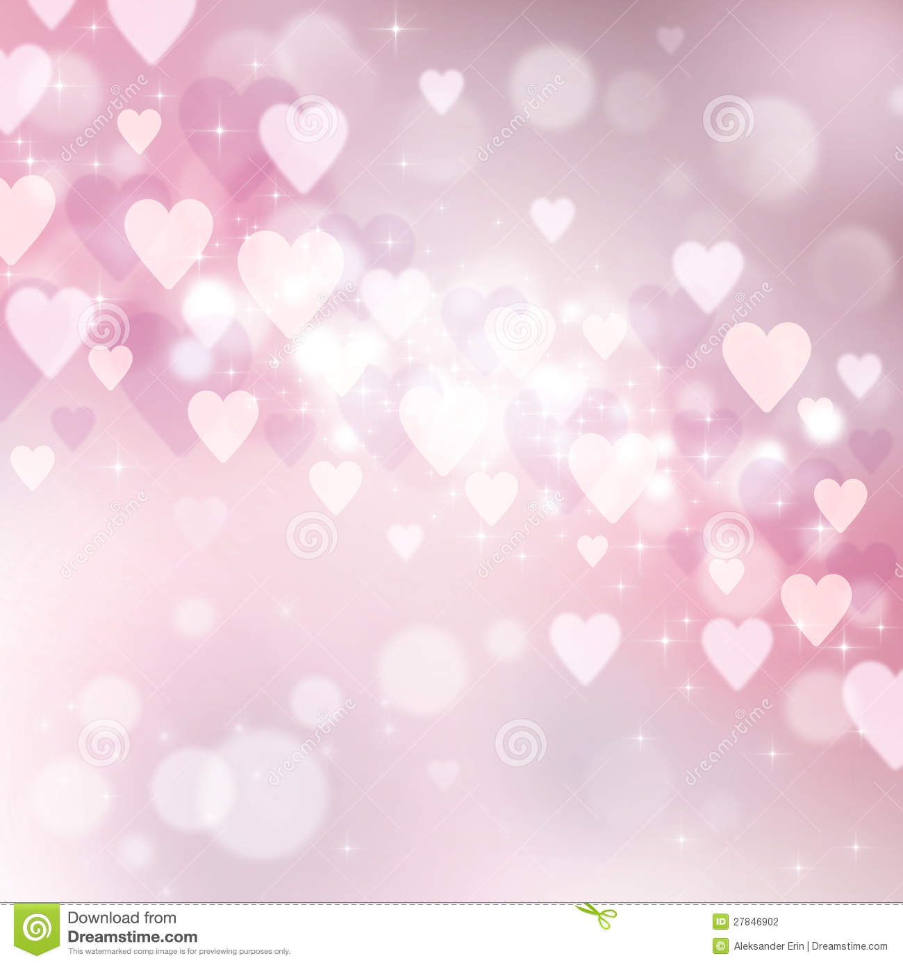 Beautiful Light Background To The Valentine S Day Stock Illustration