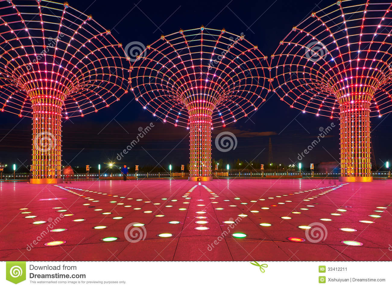 the beautiful lights stock image - image: 33412211