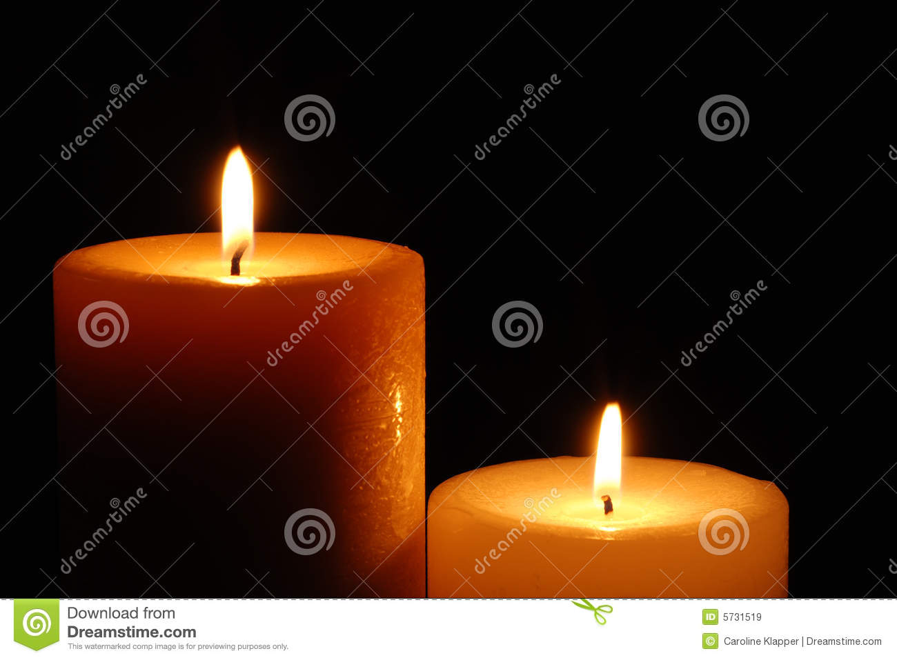 Beautiful Lit Candles Royalty Free Stock Images - Image: 5731519