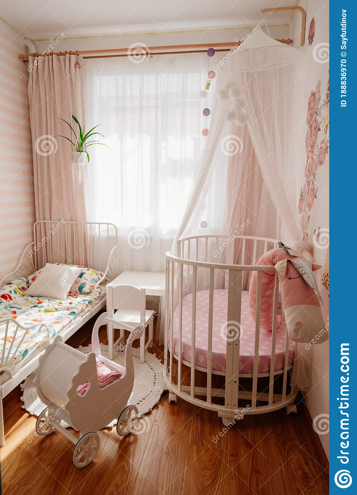 Picture of: Beautiful Little Cosy White Kids Room With Two Beds For Girls Kids Stock Photo Image Of Kids Building 188836970