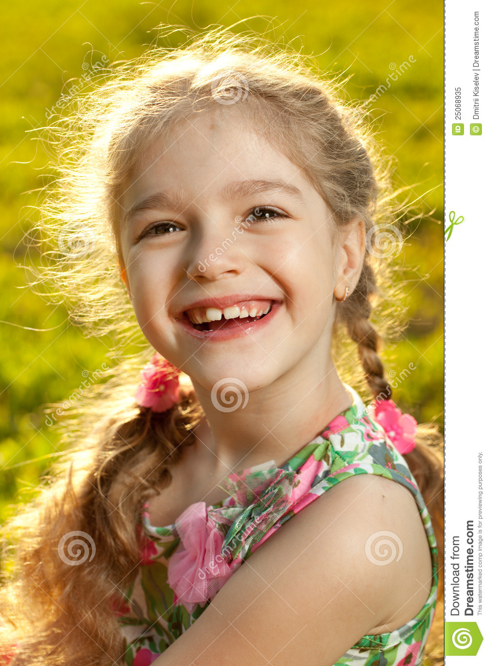 Beautiful Little Girl Stock Image Image Of Laughing