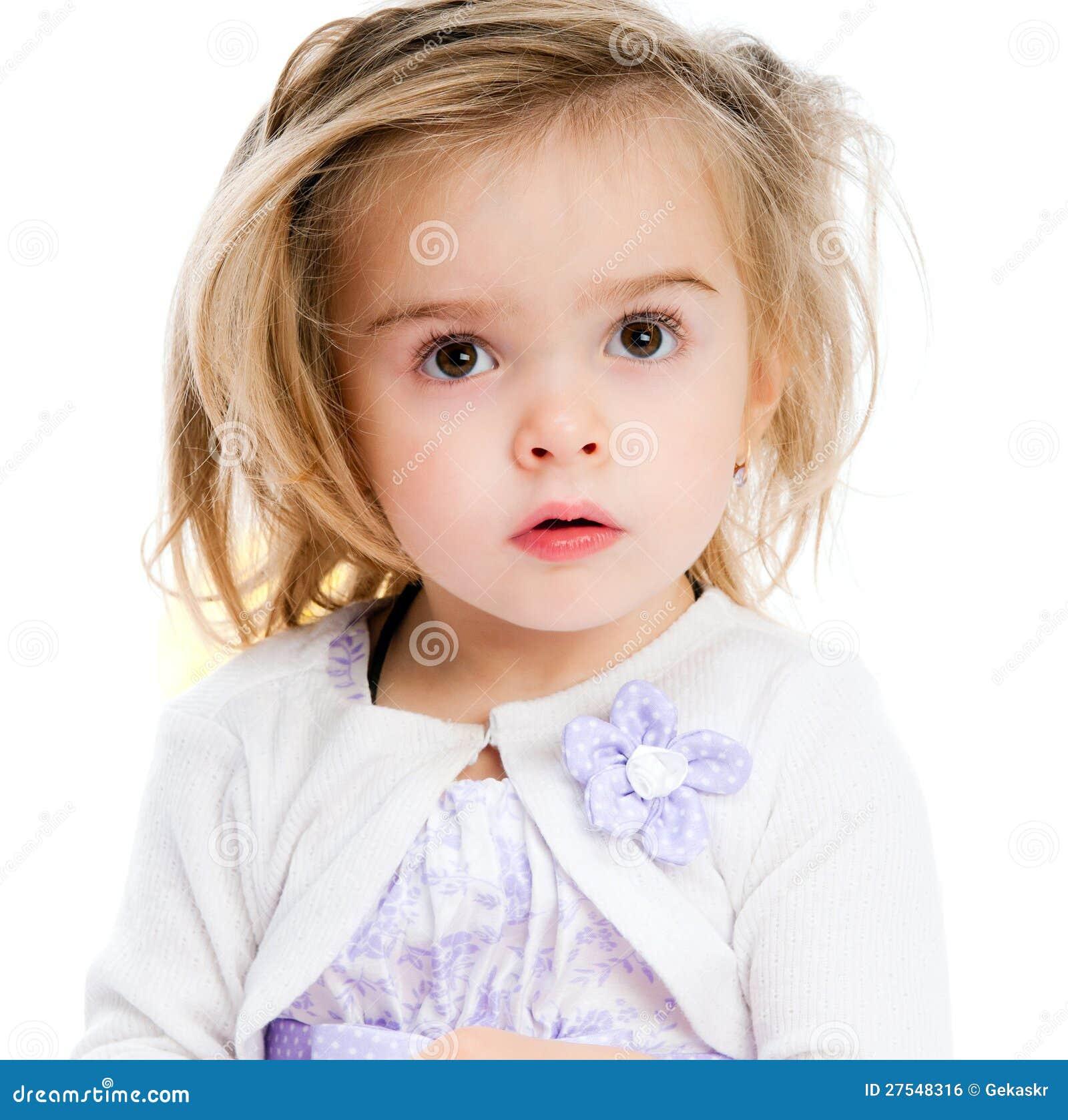Beautiful Little Girl Bedrooms: Beautiful Little Girl Stock Photo. Image Of Girl, Isolated