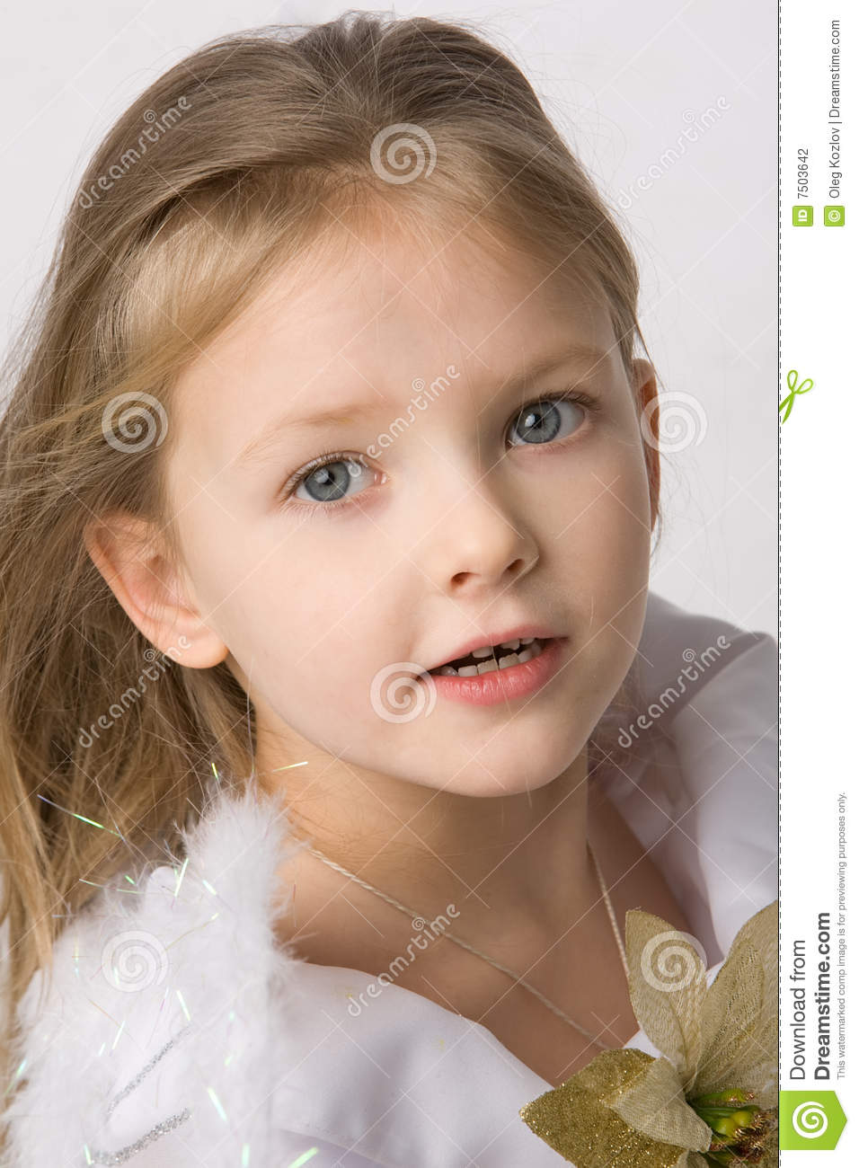 Beautiful Little Girl Stock Photo Image Of Hair, Delighted - 7503642-4008