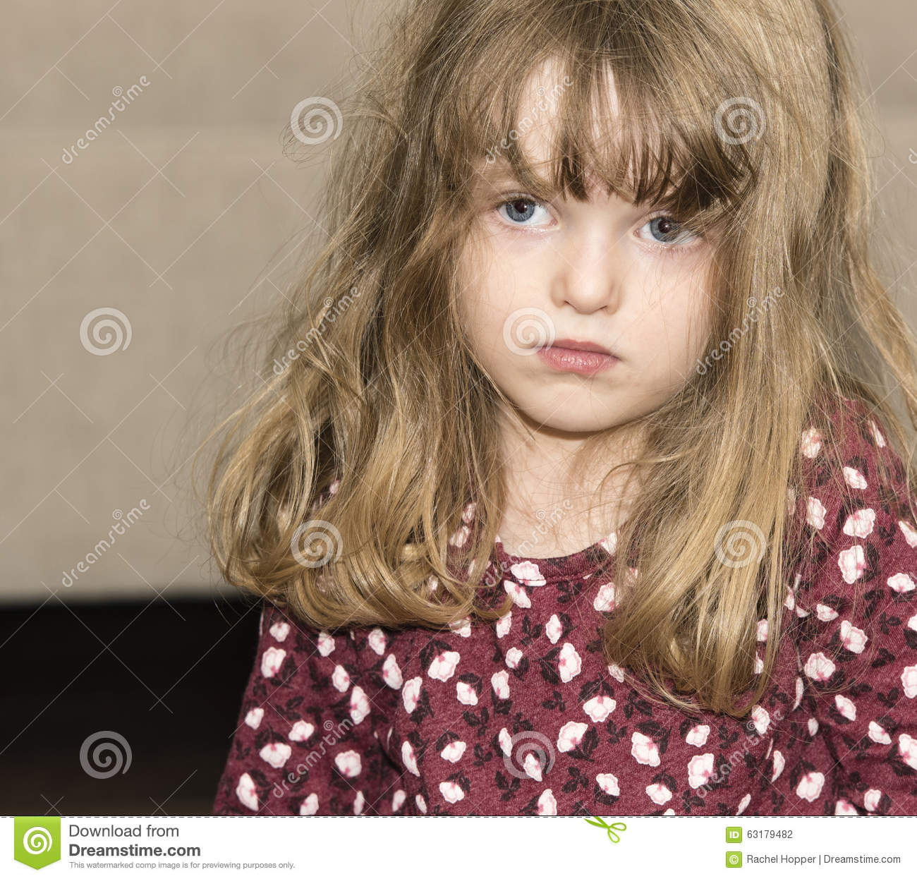 Beautiful Little Girl With Blond Hair And Blue Eyes Stock Photo - Image Of Adorable -1707