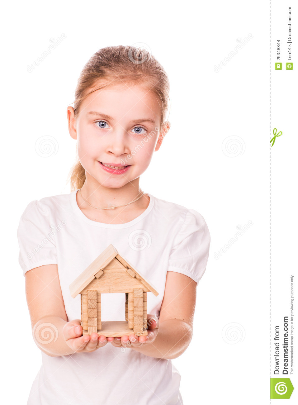 Property Development Chick : Beautiful little girl holding a toy model house buying