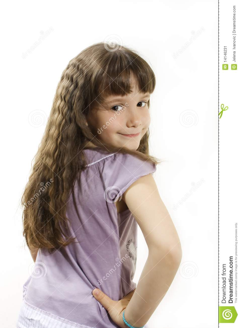 Little Beauty Royalty Free Stock Images: Beautiful Little Girl With Long Hair Stock Image