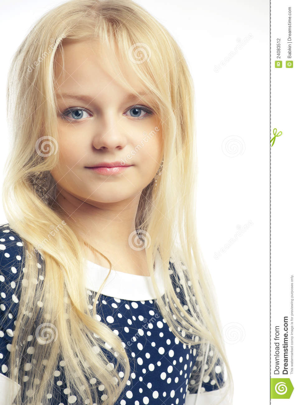 Beautiful Little Girl With Long Hair Stock Photo - Image Of Background, Little 24083512-3903