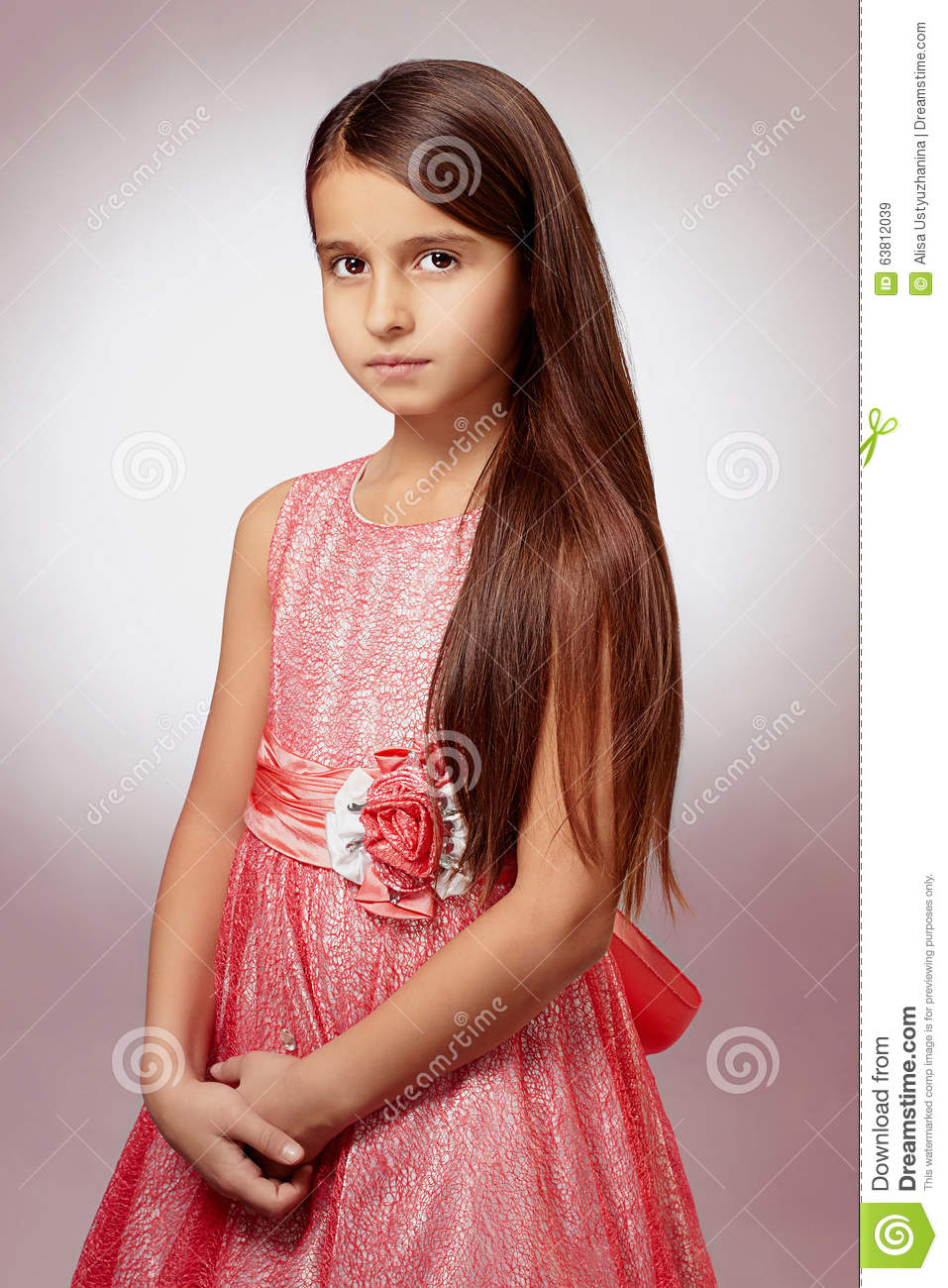 Beautiful Little Girl In Pink Dress Stock Image - Image Of Dress, Little 63812039-7685