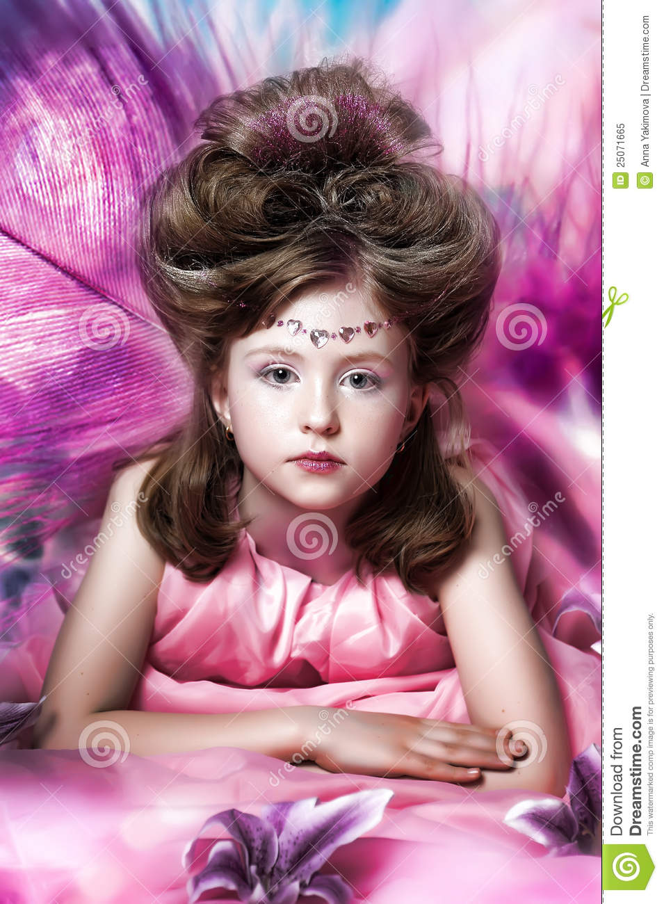 Beautiful little girl in princess dress royalty free stock for Small princess