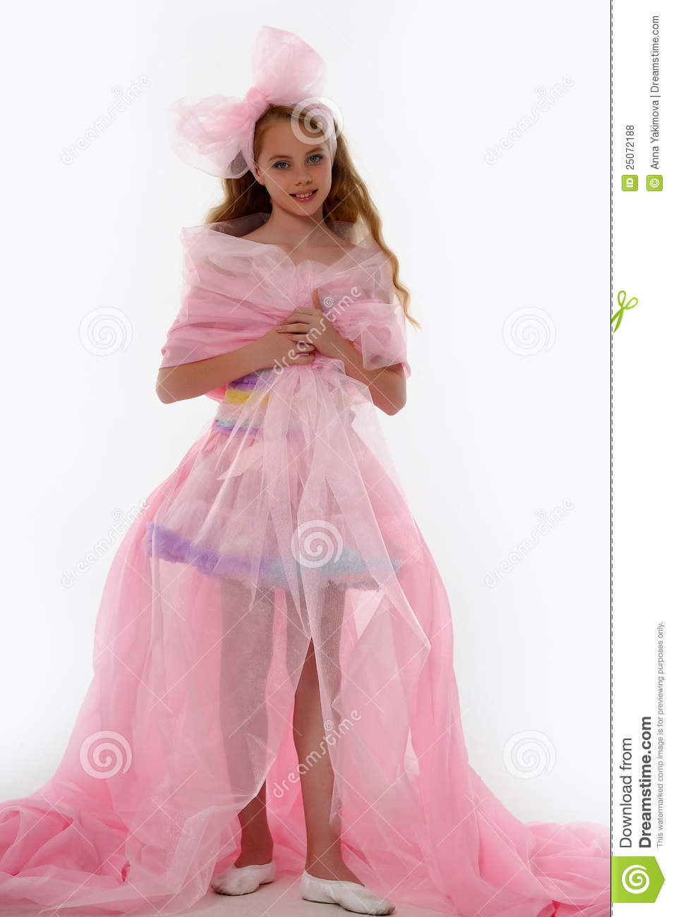 Beautiful Little Girl In Princess Dress Royalty Free Stock Photos ...