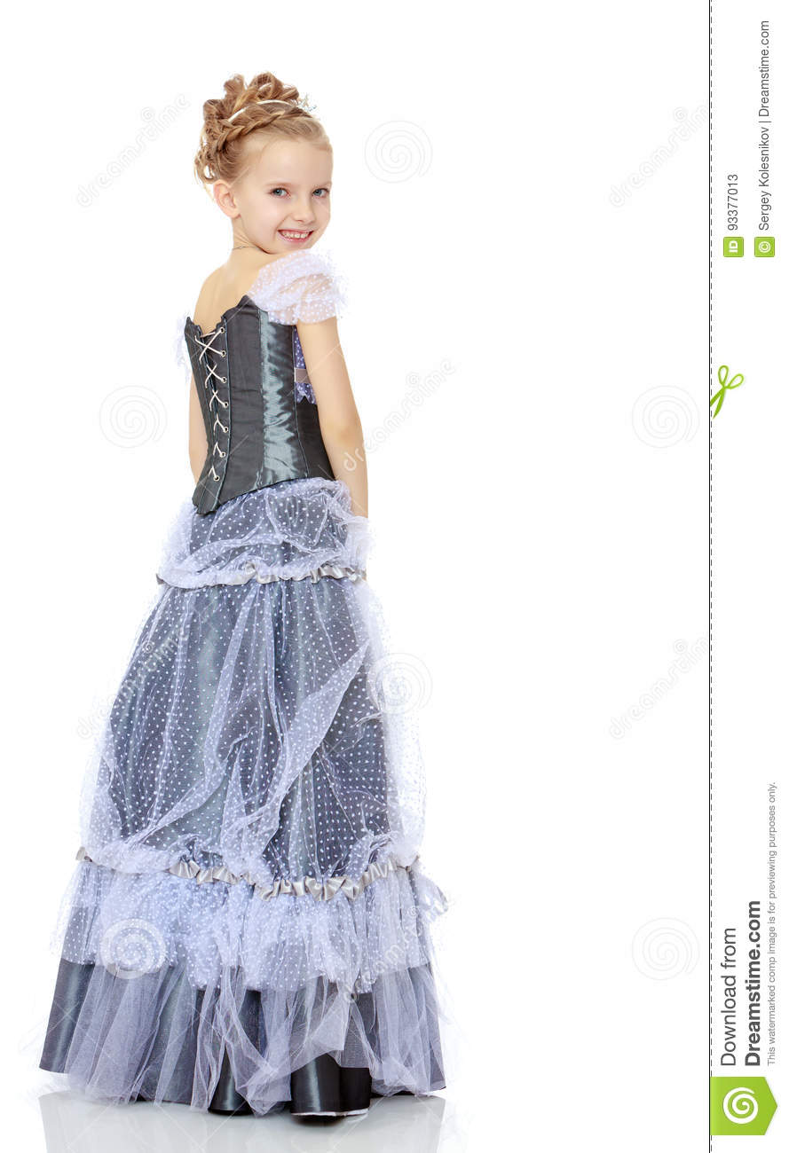 e47a67034106 Beautiful Little Girl In Princess Dress. Stock Image - Image of ...
