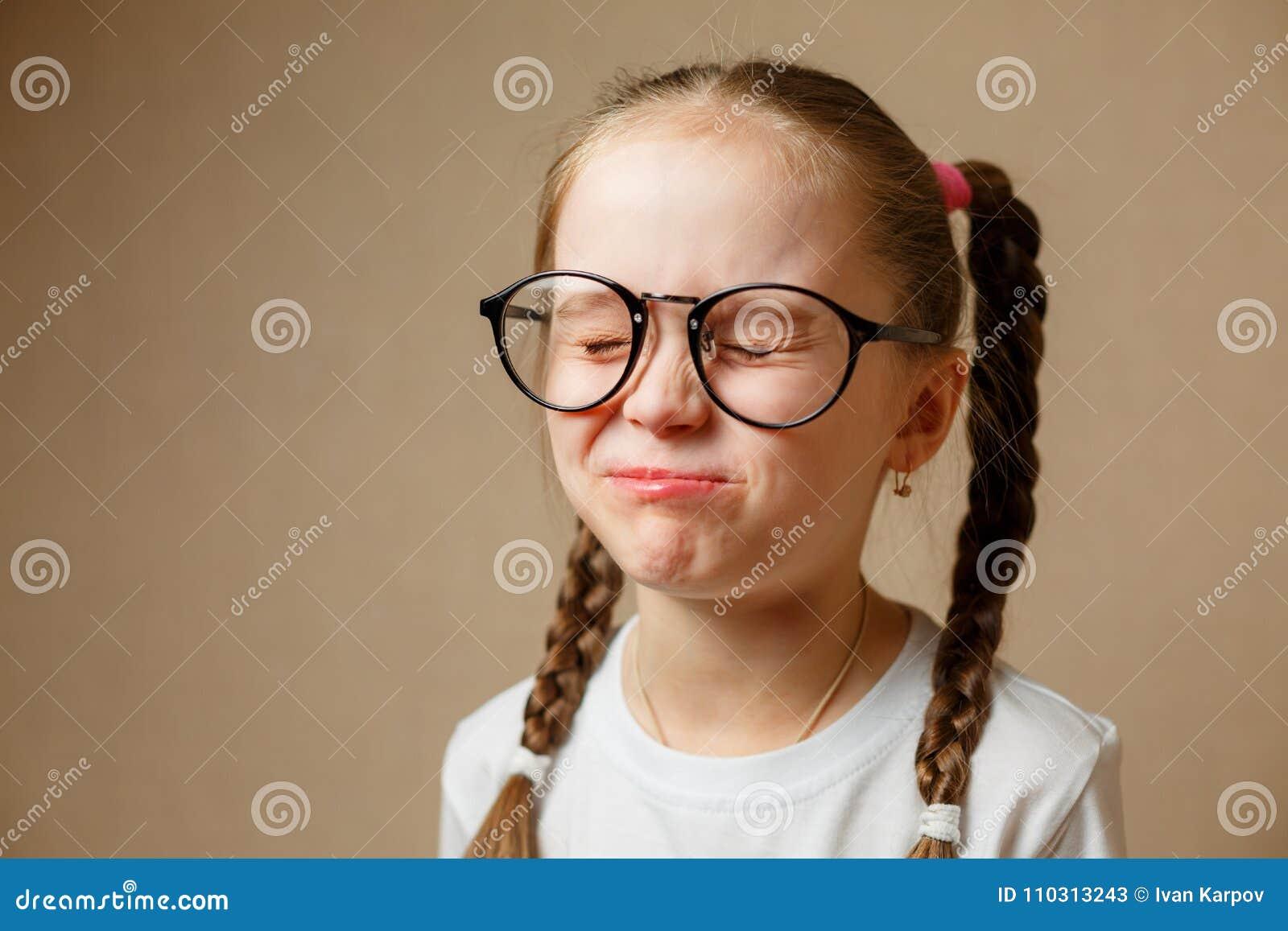 Beautiful little girl wearing glasses
