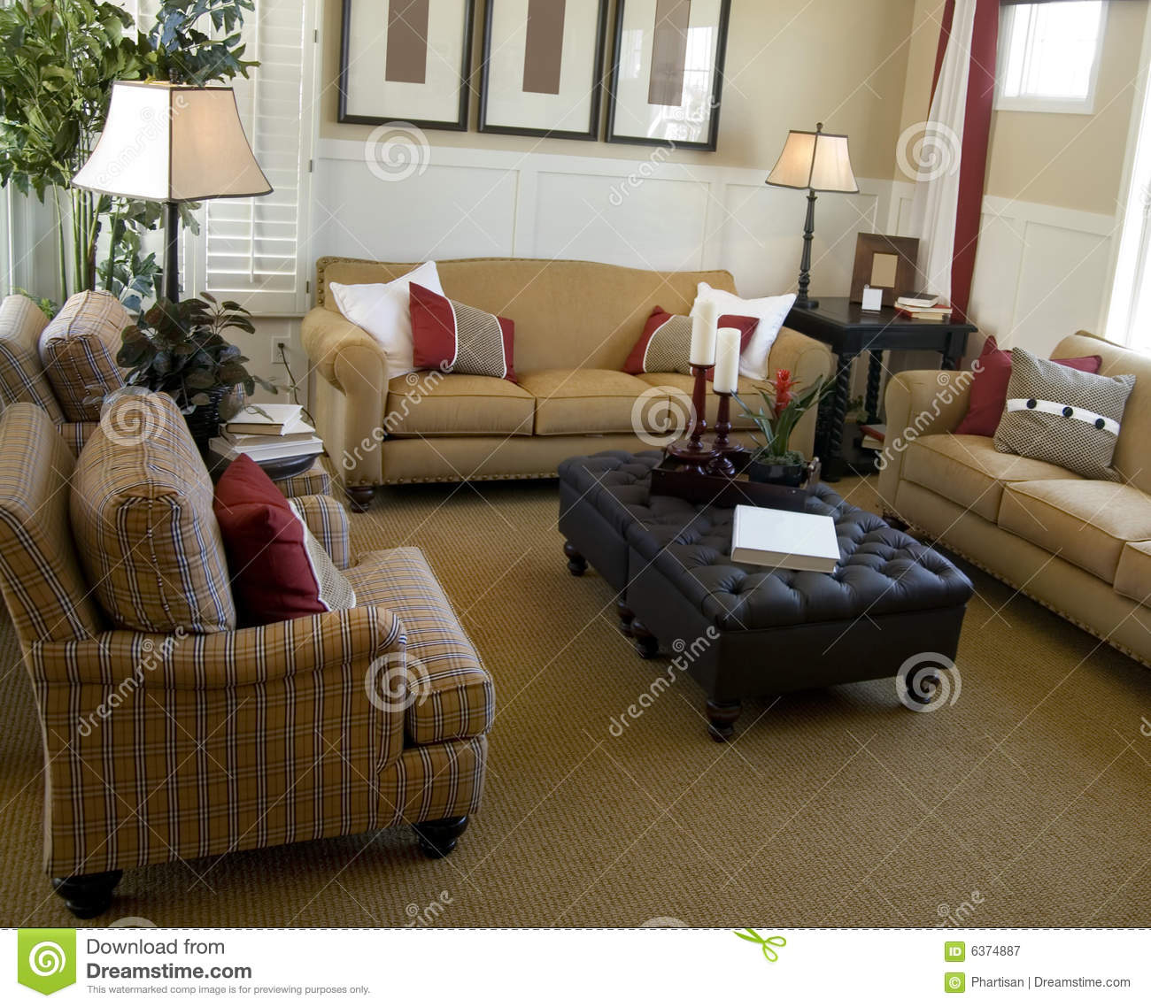 Beautiful living room interior royalty free stock for Beautiful drawing room
