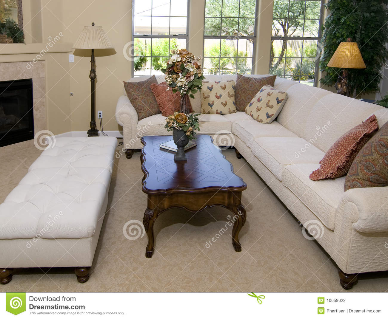 Beautiful living room interior design stock image image for House beautiful living rooms photos