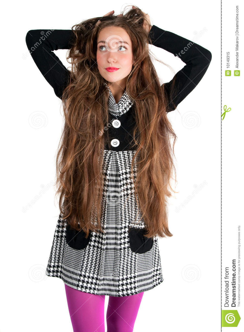Beautiful Long Haired Woman Stock Image Image Of