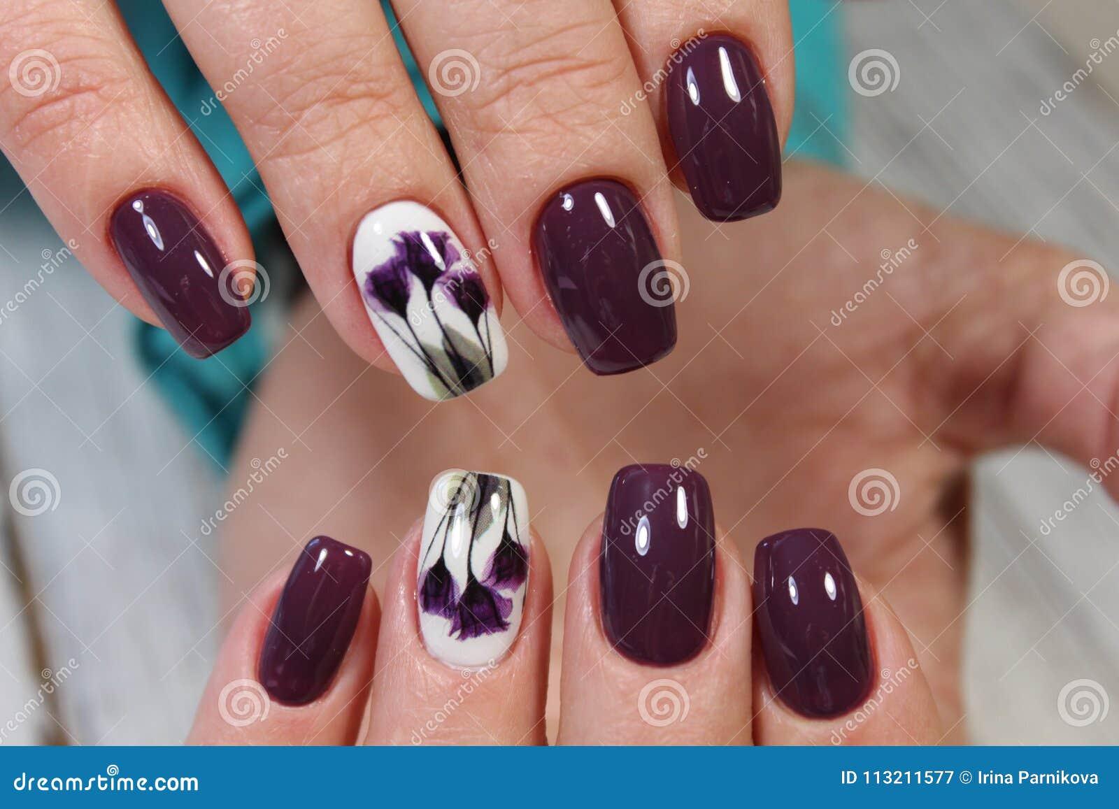 Beautiful long nails stock image. Image of nails, lips - 113211577