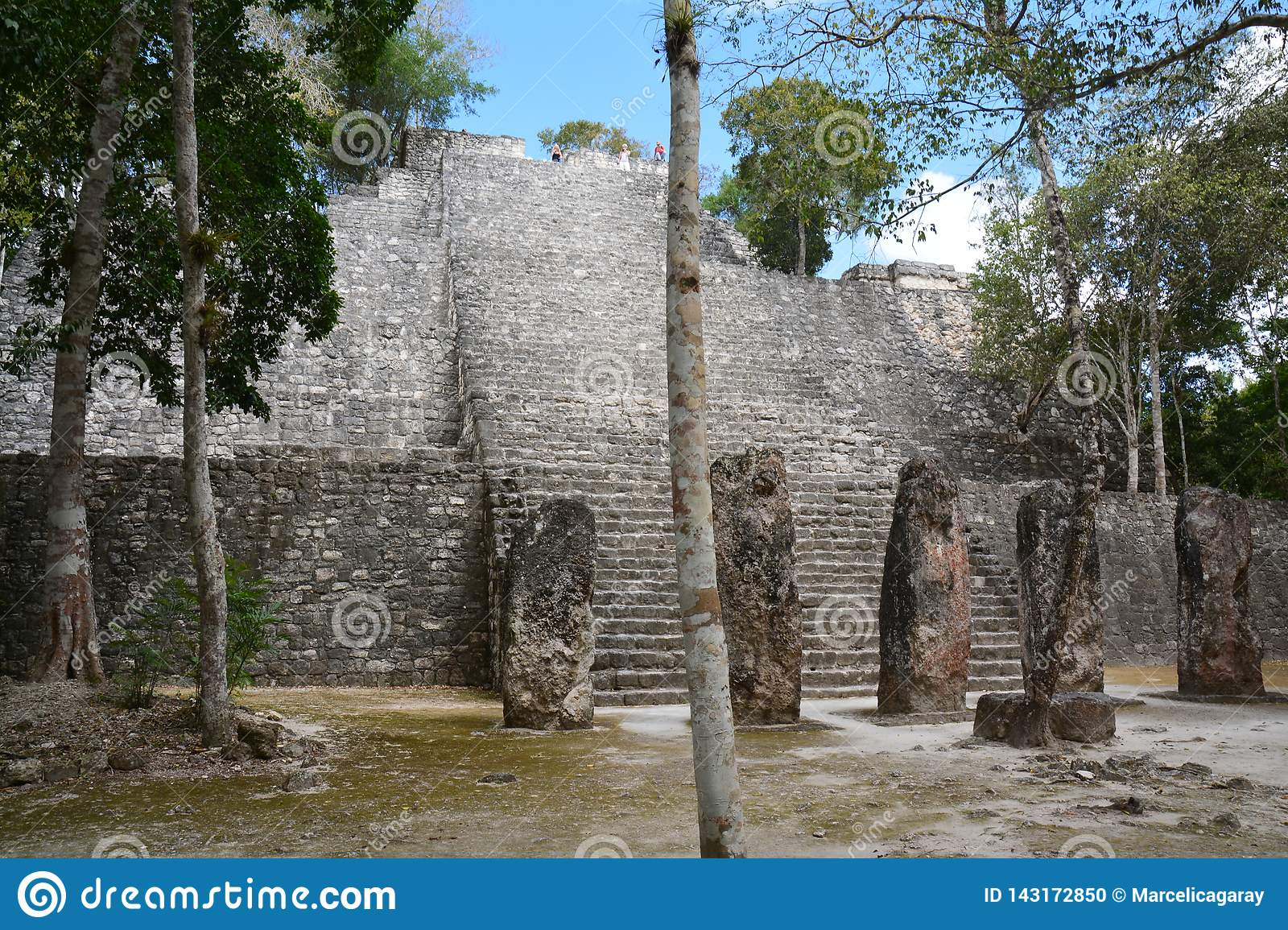 Calakmul Archaeological Site in Campeche Mexico
