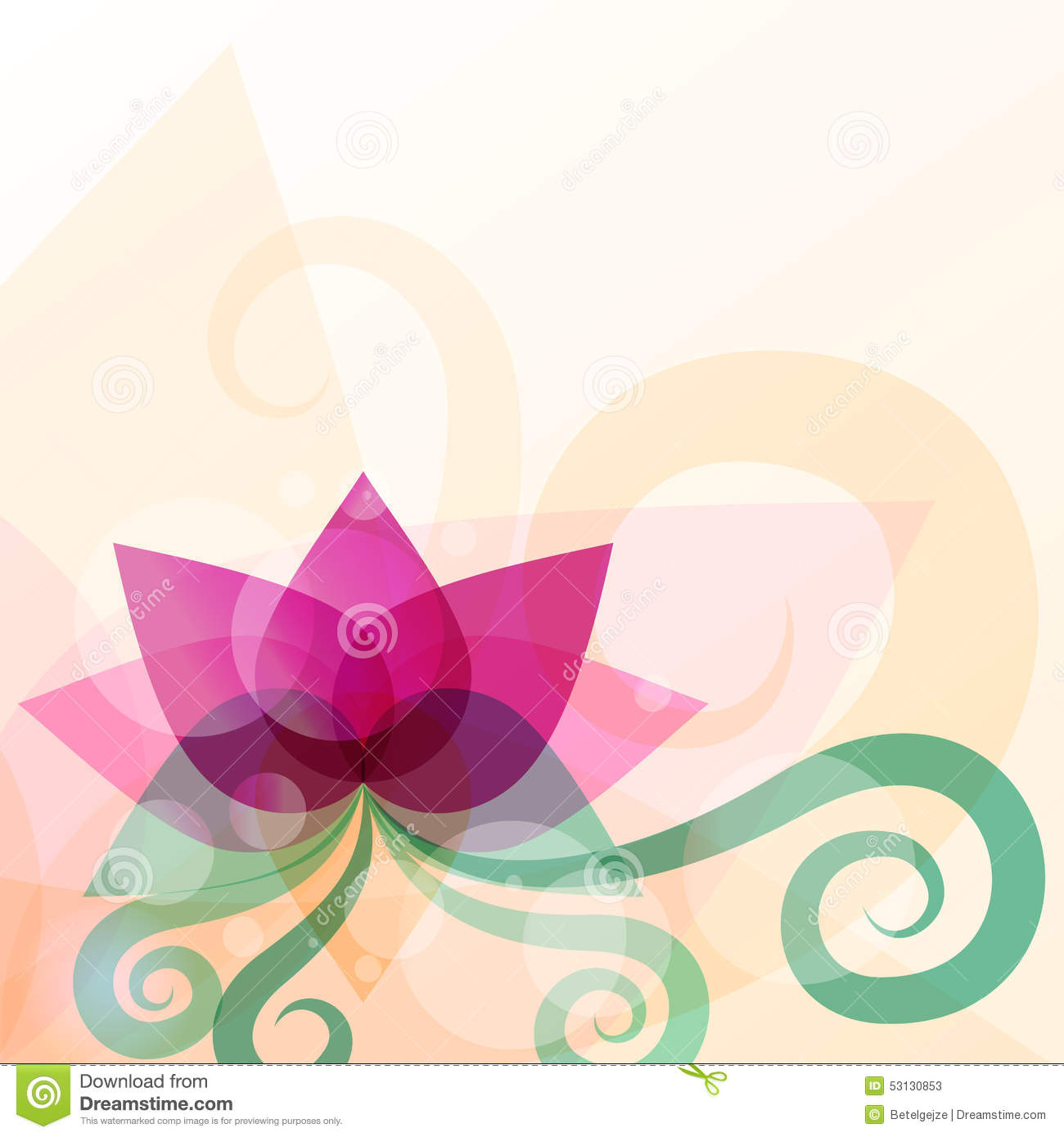 Beautiful lotus flower illustration vector abstract for Abstract beauty salon