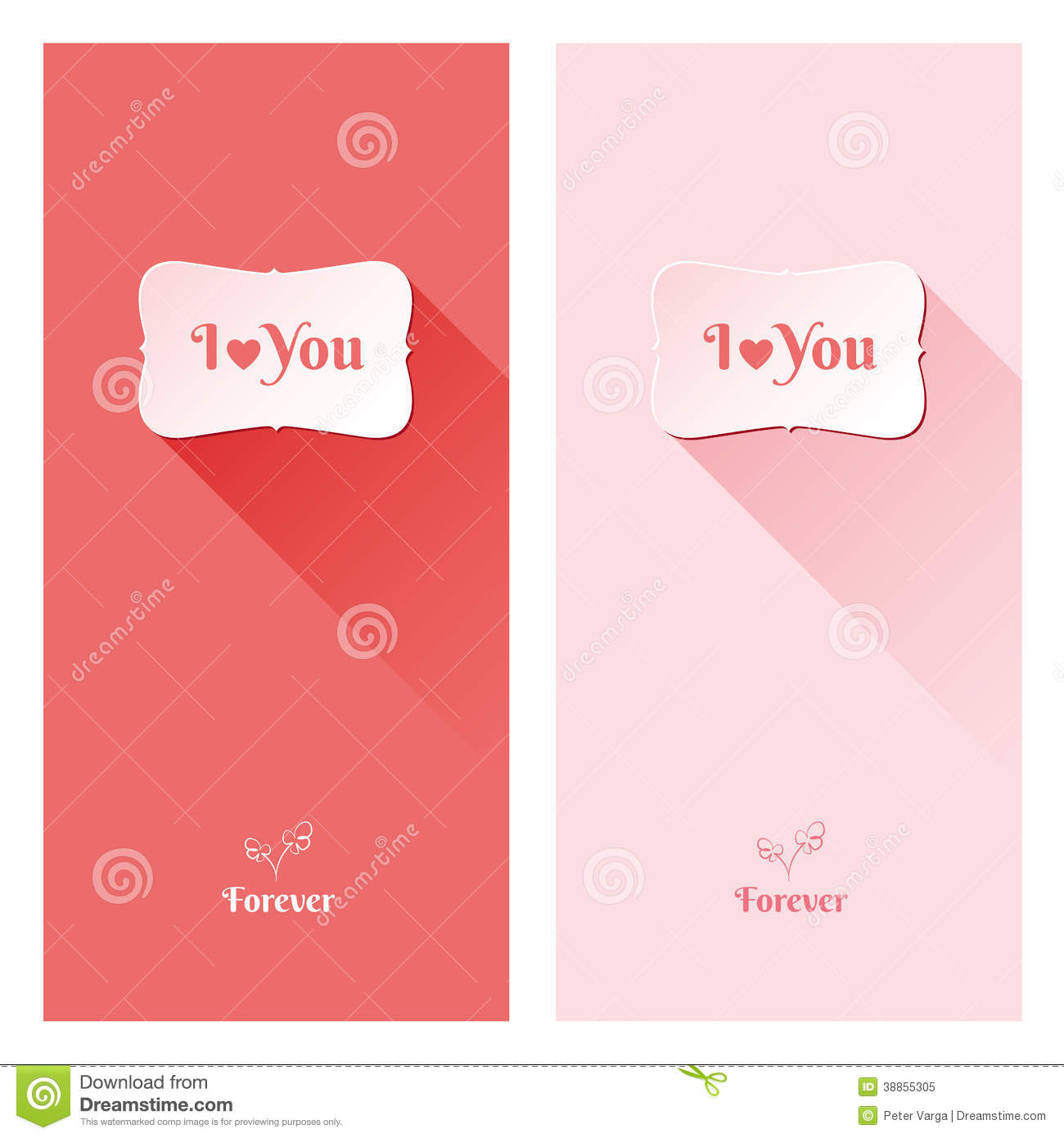 Beautiful Love Greeting Cards Stock Vector - Illustration of sign ...