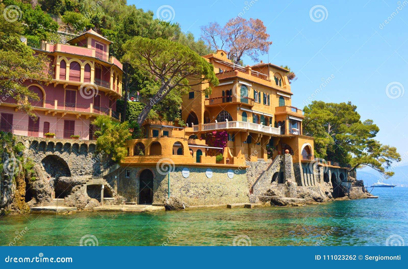 Beautiful Luxury Homes Overlooking On The Portofino Bay, Italy.