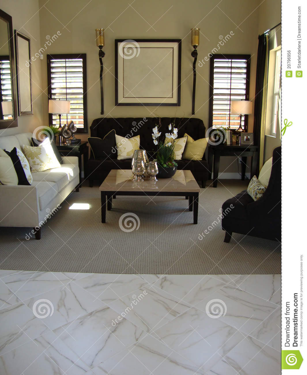 Fabulous Beautiful living room with windows with shudders white and brown 1065 x 1300 · 152 kB · jpeg