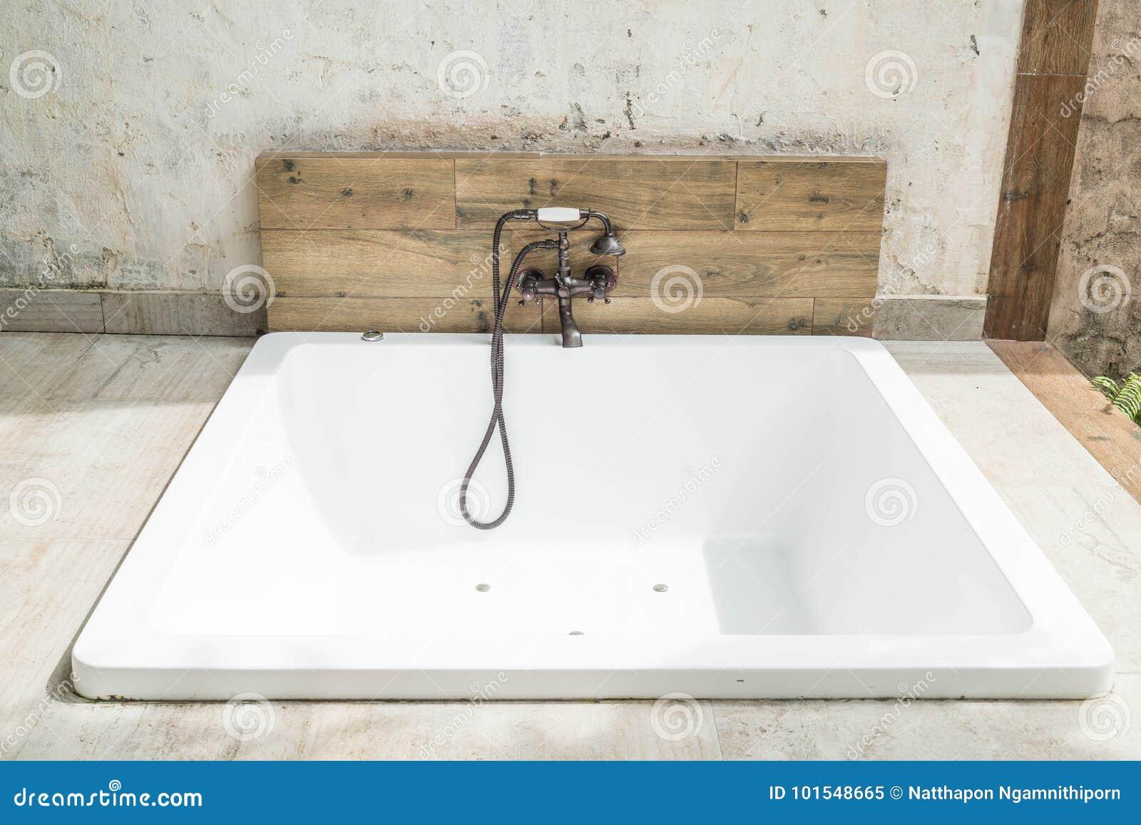Beautiful Luxury White Modern Bathtub Decoration Stock Image - Image ...