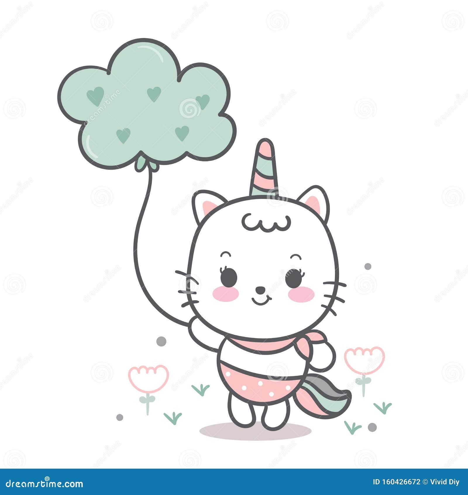 Beautiful Magical Unicorn Cat Funny Horse Wallpaper Kawaii Animal