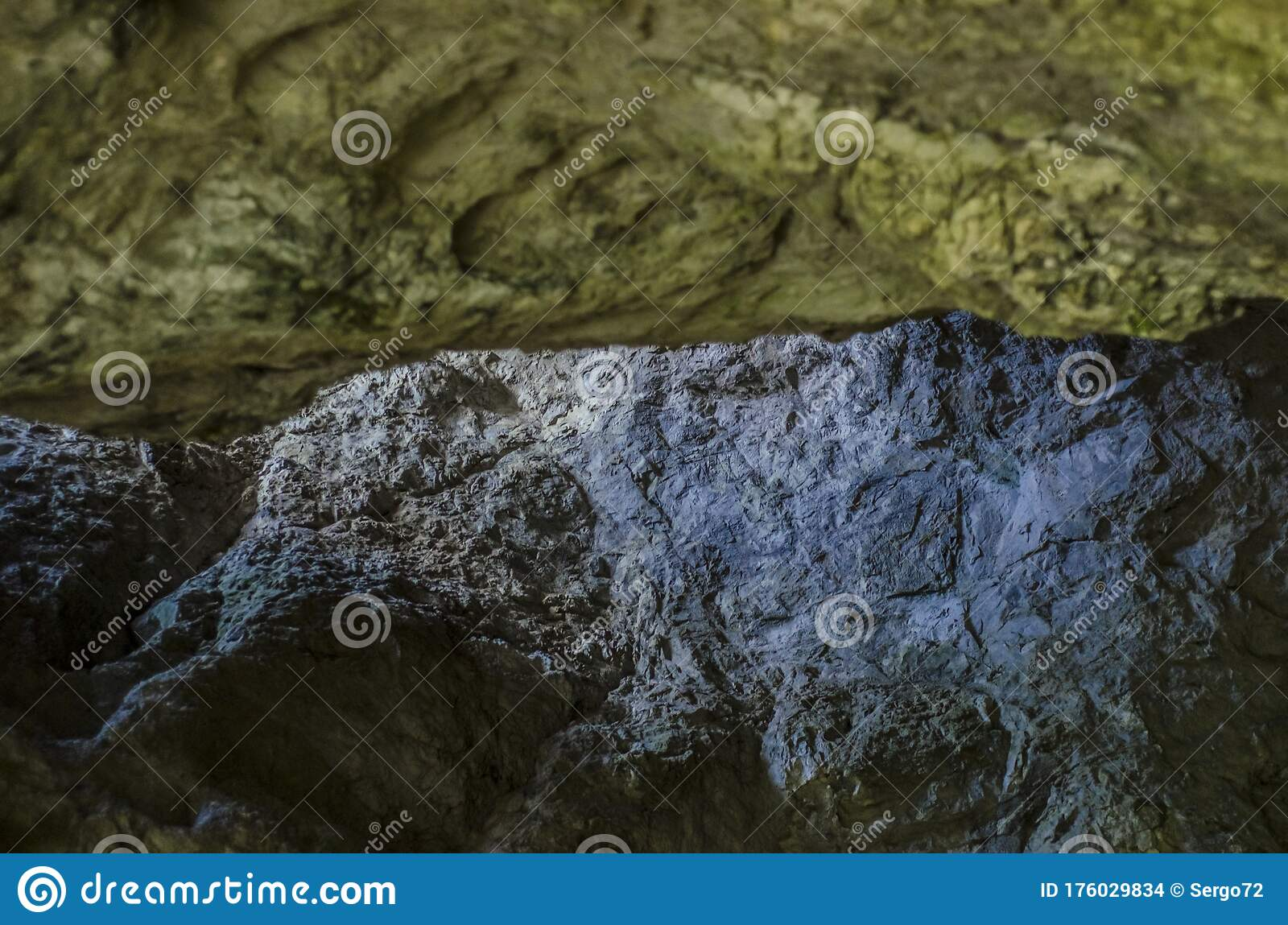 Beautiful view of the cave stock photo. Image of energy ...