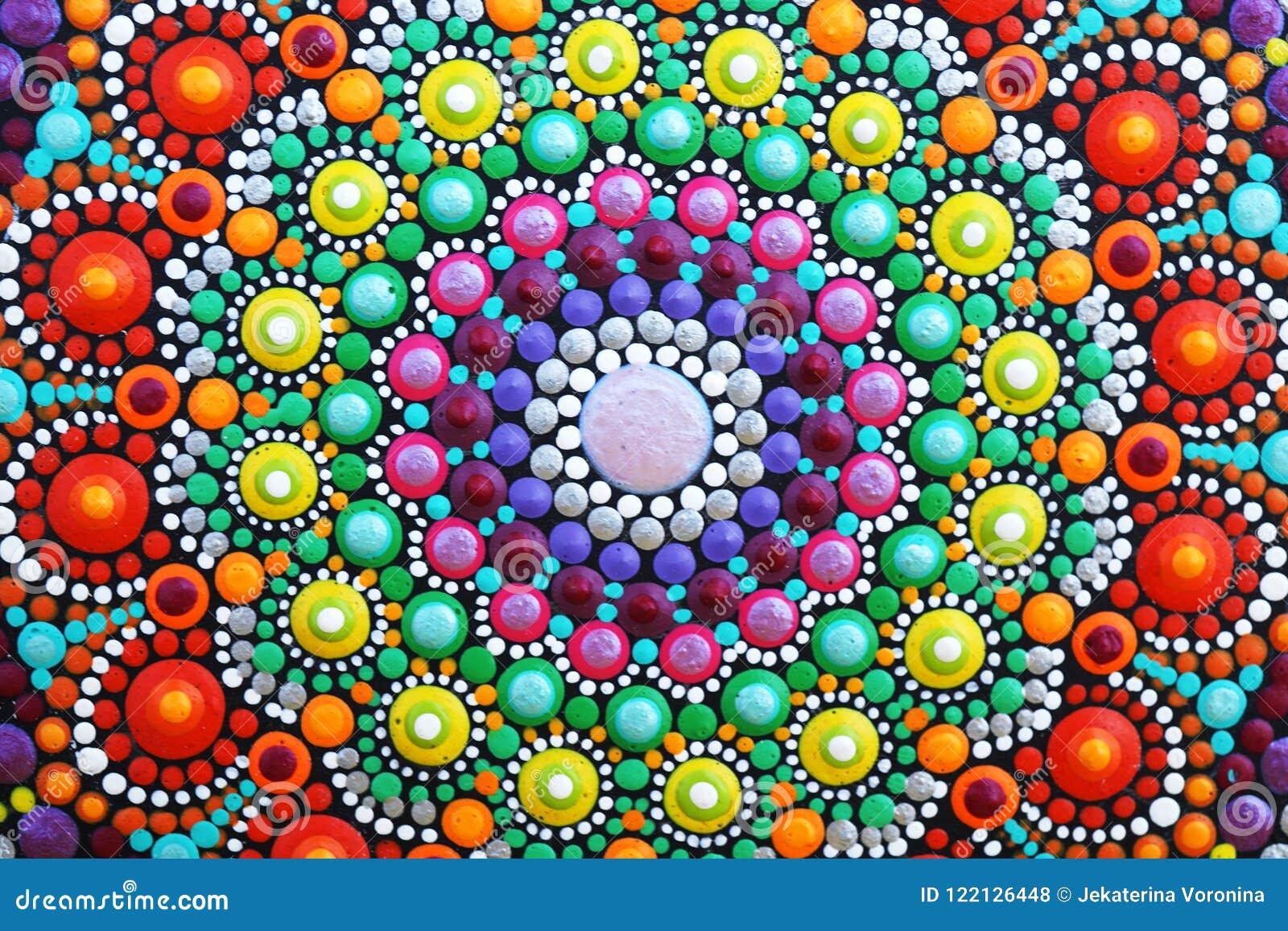 0b39abcdb9662 Beautiful Mandala Hand Painted Stock Illustration - Illustration of ...
