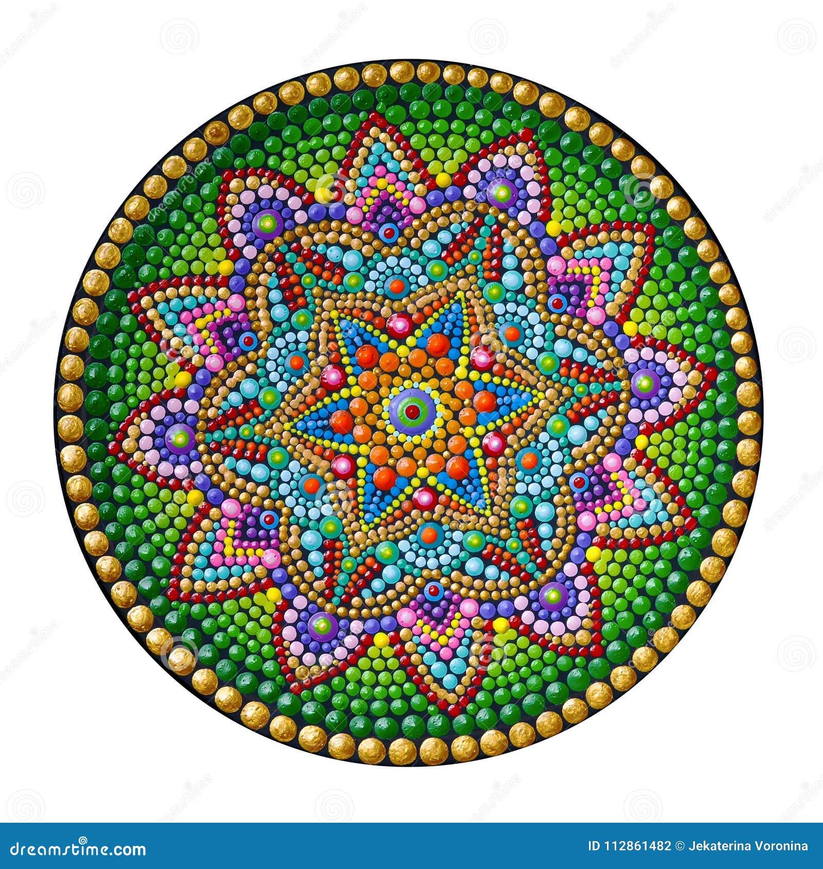 62002952331d5 Beautiful Mandala Hand Painted Stock Photo - Image of acrylic ...