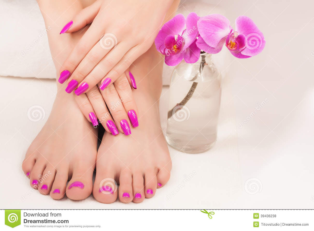 Beautiful Manicure And Pedicure Stock Photo - Image: 39436238