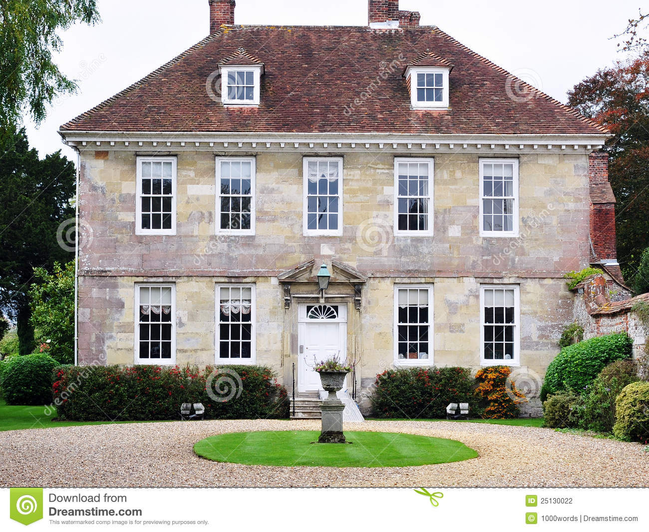 Beautiful mansion and garden stock photo image of estate for Beautiful mansions