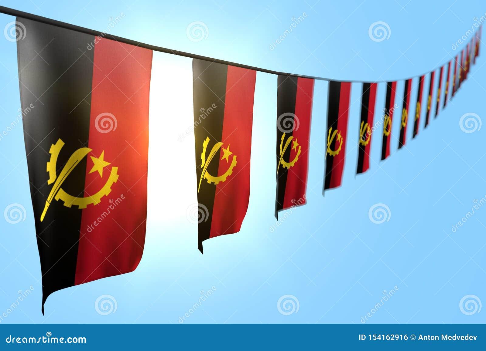 Cute Feast Flag 3d Illustration - Many Angola Flags Or