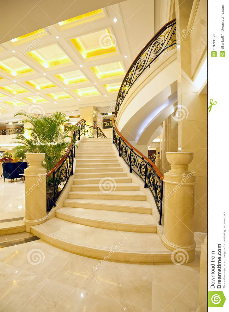 Beautiful Marble Stairs Stock Image Image Of Classy