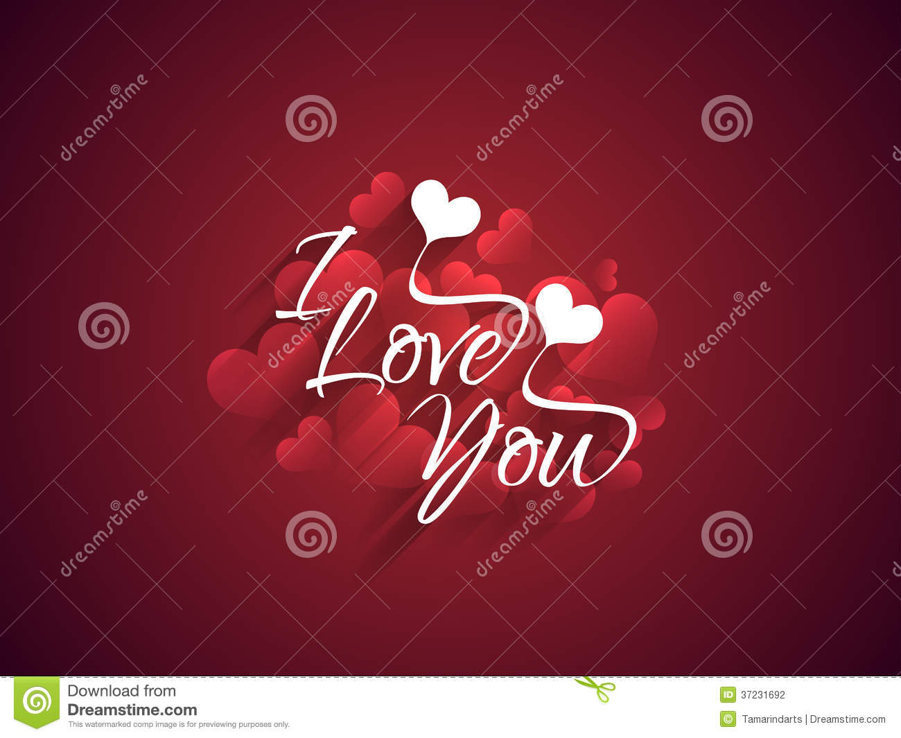 Beautiful maroon color love background with creati stock for I love design