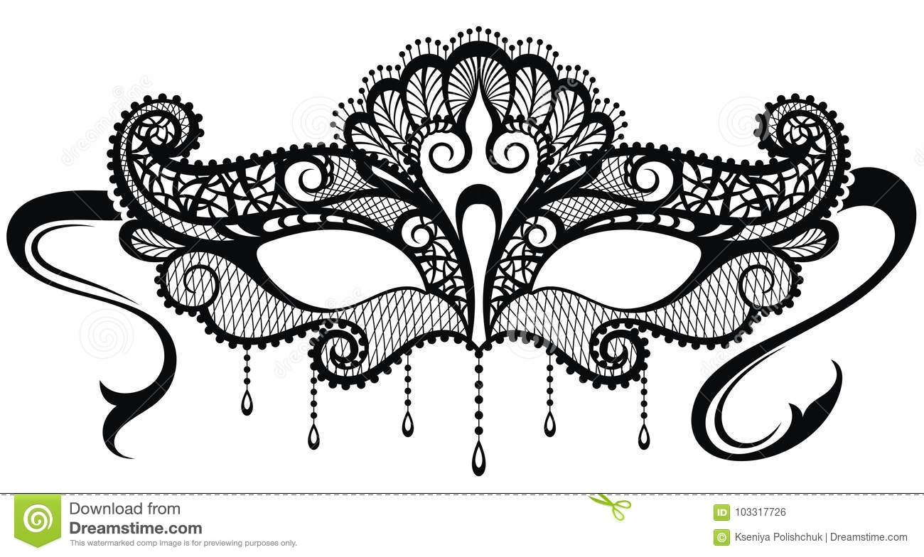 Beautiful Mask Of Lace. Mardi Gras Vector Background Stock Vector ...