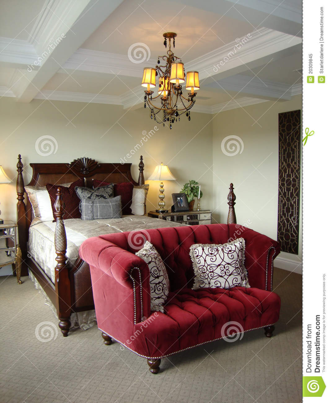 Beautiful Master Bedroom Suite Stock Image Image Of Suite Architecture 20309845